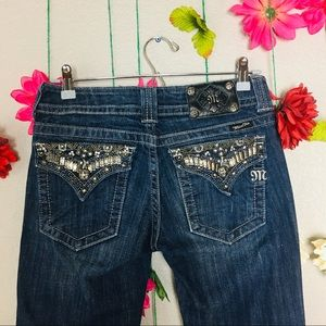 Miss Me Embellished Boot Cut Jeans Size 28